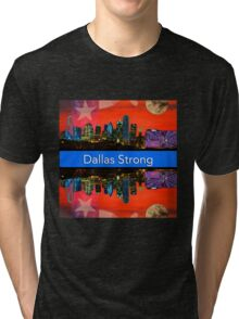 Dallas Strong - Sunset Dallas Skyline Tri-blend T-Shirt