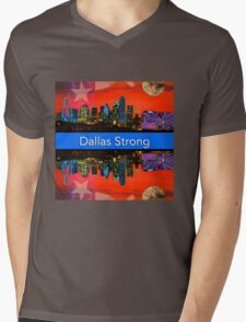 Dallas Strong - Sunset Dallas Skyline Mens V-Neck T-Shirt