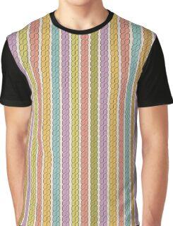 Simple plait seamless pattern. Retro colors background.  Graphic T-Shirt