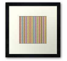 Simple plait seamless pattern. Retro colors background.  Framed Print