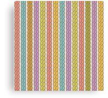 Simple plait seamless pattern. Retro colors background.  Canvas Print