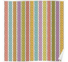 Simple plait seamless pattern. Retro colors background.  Poster