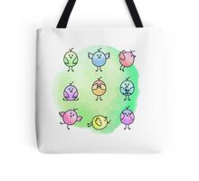 Funny Birds Illustration Tote Bag
