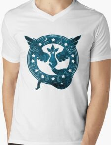 Team Mystic Blue Mens V-Neck T-Shirt