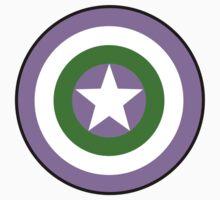 Genderqueer Flag Cap Shield by spiltsparks