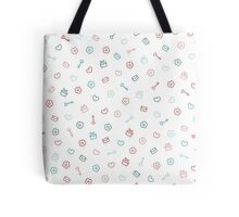 Cute pastel pattern. Seamless pretty background.  Tote Bag