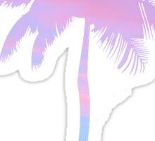 sunset filled palm tree Sticker