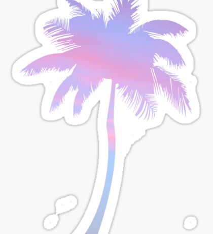 sunset filled palm tree Sticker