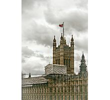 Scaffolding on the House of Parliament Photographic Print