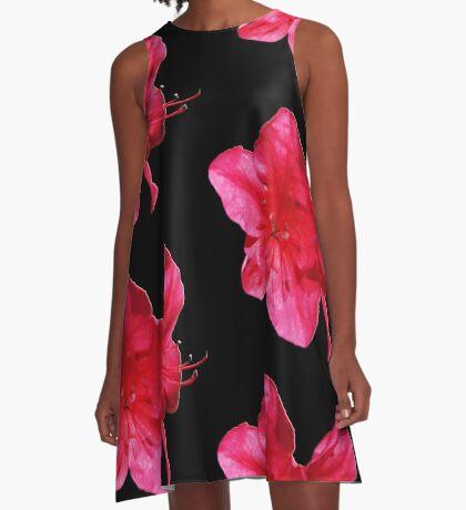 Pink Iris A-Line Dress