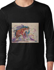 Watercolor cow Long Sleeve T-Shirt