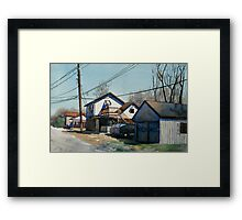 House on the Corner Framed Print