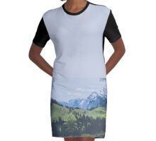 Mountain Ridge Graphic T-Shirt Dress
