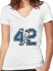 42 - Jackie (vintage) Women's Fitted V-Neck T-Shirt