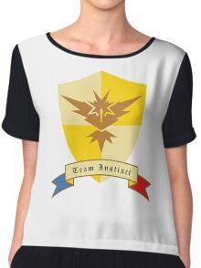 Instinct Crest Emblem Chiffon Top