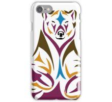 Tribal bear colour iPhone Case/Skin