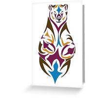 Tribal bear colour Greeting Card