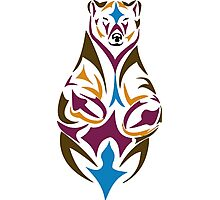 Tribal bear colour Photographic Print