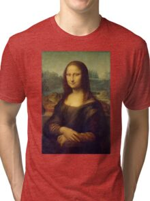 The Mona Lisa By Leonardo Da Vinci Tri-blend T-Shirt