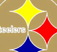 Lords of the Rings Steelers Brown Sticker
