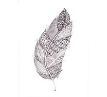 Tangled Feather Photographic Print