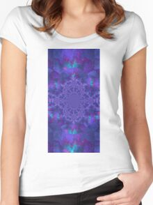 kaleidoscopic Trance V3 Women's Fitted Scoop T-Shirt