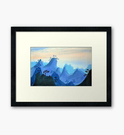 Blue Hills Framed Print