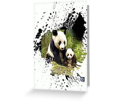 adorable pandas Greeting Card