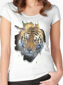 the tiger Women's Fitted Scoop T-Shirt