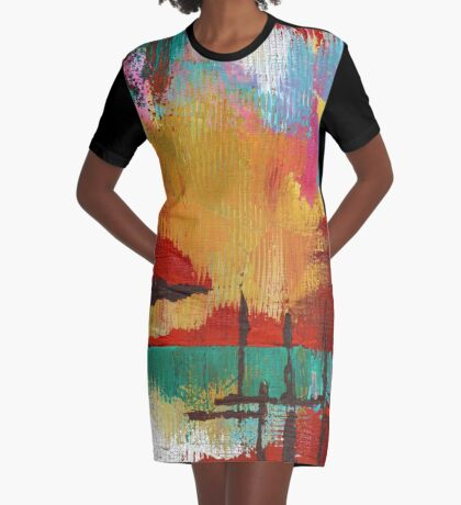 Fire in the Sky Graphic T-Shirt Dress