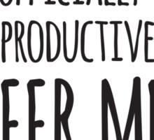 Counterproductive O'Clock Sticker