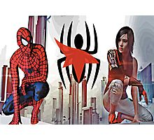 Spider-Man and Faith Connors  Photographic Print