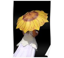 Sunflower Brolly Poster