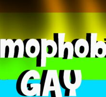 Homophobia Is GAY Sticker