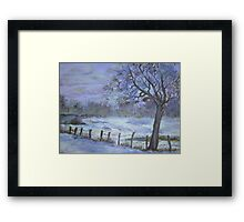 WInter mist Framed Print