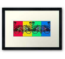 Coloured Bicycles Framed Print