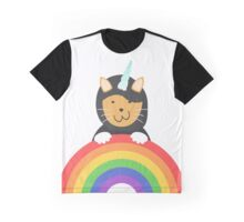 Undercover Unicorn Cat Graphic T-Shirt
