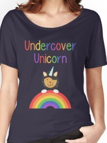 Undercover Unicorn Cat Women's Relaxed Fit T-Shirt