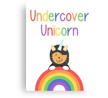 Undercover Unicorn Cat Canvas Print