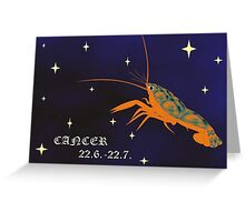 zodiac-cancer Greeting Card