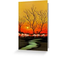 The Evening Sunset View Greeting Card