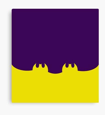 Bat Leggings Purple Canvas Print