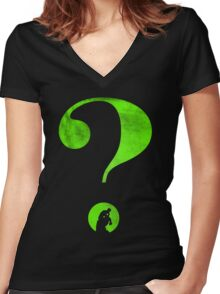 T-shirt Question mark Women's Fitted V-Neck T-Shirt