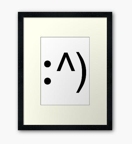Geek Code Face Button Framed Print