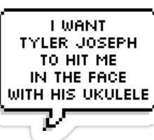 Tyler Joseph's Ukulele ; DBC Sticker Sticker