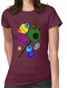 lignes et des cercles #1 Womens Fitted T-Shirt