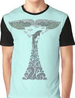 Orca whale tail illustration Graphic T-Shirt