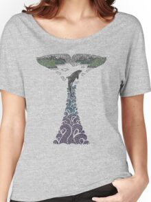 Orca whale tail illustration Women's Relaxed Fit T-Shirt