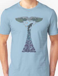 Orca whale tail illustration Unisex T-Shirt
