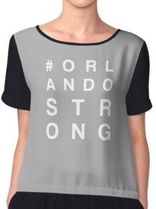 ORLANDO STRONG (white font) Chiffon Top